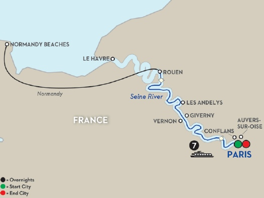 how to get from paris to normandy beaches
